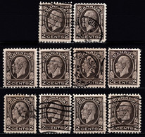 ! CANADA - King George V / Lot Of 10 Used Stamps (k4082) - Used Stamps