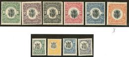 * TANGANYIKA. Nos 15 à 24. - TB - Tanganyika (...-1932)