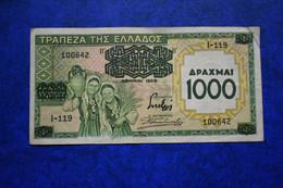 GREECE  1000 DRACH 1939 GOOD - Grecia
