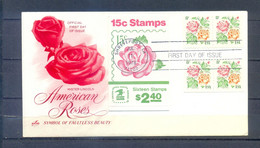 UNITED STATES 1978 FDC AMERICAN ROSES  MNH - Rose