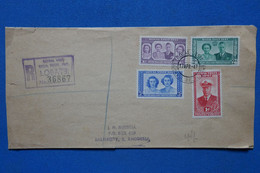 C BECHUANALAND  BELLE LETTRE RECOM.   1947 LOBATSI POUR SALISBURY  RHODESIA+ + AFFRANCH. PLAISANT - 1885-1964 Bechuanaland Protectorate