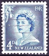 NEW ZEALAND 1959 QEII 4d Blue SG749a FU - Unused Stamps