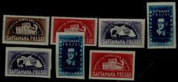 ROMANIA 1948 100 YEARS ROMANIAN PRESS PRESS WEEK MI No 1154-7A + B MNH VF !! - Nuevos