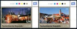 ONU Vienne 2016 - UNESCO - Patrimoine Mondial République Tchèque - 2 Timbres Détachés De Feuille ** MNH PF - Ungebraucht