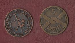 Italia 1 E 5 Leghe 1992 Token Emessi Dalla Lega Nord E Dal Valore Di 1000 E 5000 Lire - Altri