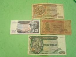 Classeur AA /ZAIRE / Lot De 4 Billets Dans L'état - Other - Africa