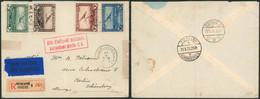 """PA1 à 4 Sur L. En Recommandé + étiquette Bilingue """"Par Avion"""" De Antwerpen (1930) > Berlin + Griffe Allemande 2L - Luchtpost"""