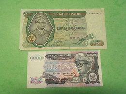 Classeur AA /ZAIRE / Lot De 2 Billets Dans L'état - Other - Africa