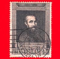 VATICANO - Usato - 1964 - 4º Centenario Della Morte Di Michelangelo Buonarroti - 10 L. • Michelangelo - Usati