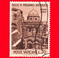 VATICANO - Usato - 1964 - Pellegrinaggio Di Paolo VI In Terra Santa - 70 L. • Santo Sepolcro, A Gerusalemme - Usati