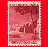 VATICANO - Usato - 1964 - Pellegrinaggio Di Paolo VI In Terra Santa - 25 L. • Basilica A Betlemme - Usati