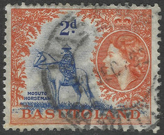 Basutoland. 1954-58 QEII. 2d Used SG45 - 1933-1964 Crown Colony