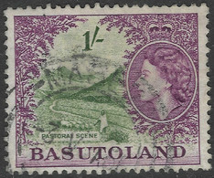 Basutoland. 1954-58 QEII. 1/- Used SG49 - 1933-1964 Crown Colony
