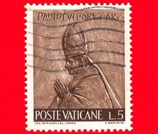 VATICANO - Usato - 1966 - Il Lavoro Dell'uomo - 5 L. • Paolo VI - Usati