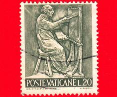 VATICANO - Usato - 1966 - Il Lavoro Dell'uomo - 20 L. • Pittura - Usati