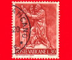 VATICANO  - Usato - 1966 - Il Lavoro Dell'uomo - 30 L. • Scultura - Usati