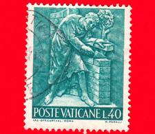 VATICANO - Usato - 1966 - Il Lavoro Dell'uomo - 40 L. • Arte Edile - Muratore - Usati