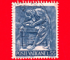 VATICANO - Usato - 1966 - Il Lavoro Dell'uomo - 55 L. • Arte Del Legno - Usati