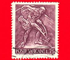 VATICANO - Usato - 1966 - Il Lavoro Dell'uomo - 75 L. • Agricoltura - Usati