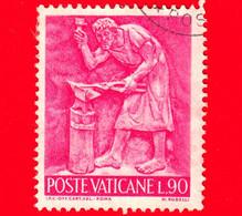 VATICANO  - Usato - 1966 - Il Lavoro Dell'uomo - 90 L. • Arte Del Ferro - Usati