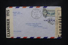ETATS UNIS  - Enveloppe De New York Pour La France En 1941 Avec Contrôles Postaux - L 108171 - Covers & Documents