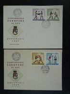 FDC (x2) Boxe Boxing 1969 Roumanie Romania Ref 101162 - Pugilato