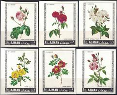 Ajman, 1969, Mi. 405B-10B, Y&T Pa 106a-e, Roses, Flowers, MNH - Rose