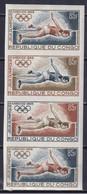 CONGO 1968, Mi# 170, Proof, Strip, Olympics Mexico - Estate 1968: Messico