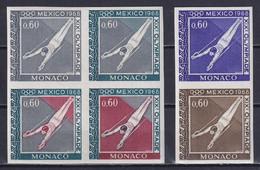 MONACO 1968, Mi# 884, Proof, Sport, Olympics Mexico - Estate 1968: Messico