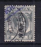 Malaya - Japanese Occupation: 1942/44   KGVI - Straits Settlements OVPT   SG J263   8c    Used - Ocupacion Japonesa