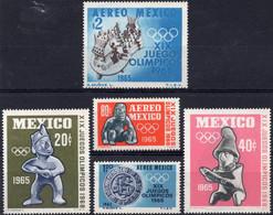 MEXICO :1965: Y.721-22 & LP/PA261-63*** Postfris/neufs/MNH : OLYMPICS,MEXICO-CITY 1968. - Estate 1968: Messico