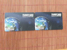 2 Prepaidcards  Transcard 5$+ 10 $ Used  2 Scans Rare - Other