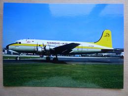 NORDIC AIR  DC 4   LN-MOB     AEROPORT DU BOURGET / COLLECTION VENIANT N°54 - 1946-....: Modern Era