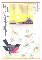 Z.Vorontsova:Living Thermometers, Bird, Spider, Grasshoppers, 1974 - Birds