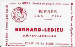 PBUVARD  NEUF ANNEES 50 's   BIERE BERNARD LEDIEU HENIN LIETARD PAS DE CALAIS - Liquor & Beer