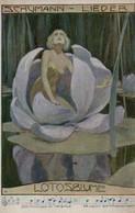 SUPERBE  Illustrée Viennoise Signée E. SCHOLTZ : Femme Dans Un Iris . ( Illustration D'un Lieder De Schumann ) - Frauen