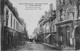 SAINT-SERVAN - Rue Georges Clemenceau - Café Du Centre - Mercerie - Attelages - Saint Servan