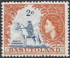 Basutoland. 1961-63 QEII. Decimal Currency. 2c MH SG71 - 1933-1964 Crown Colony