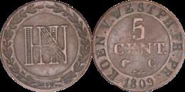 Allemagne - Royaume De Westphalie - 1809 - 5 Centimes - Jérôme Bonaparte - H065 - Sonstige