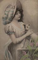 Belle Illustrée VIENNOISE : Femme Au Pinsher - Frauen