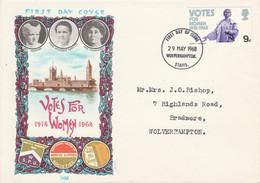 GB LETTRE FDC 1968 VOTE DES FEMMES - 1952-1971 Dezimalausgaben (Vorläufer)