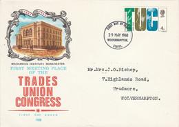 GB LETTRE FDC 1968 TRADES UNION CONGRESS - 1952-1971 Dezimalausgaben (Vorläufer)