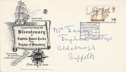 GB LETTRE FDC DE DE LONDRES 1968 - Briefe U. Dokumente