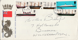 GB LETTRE FDC BATEAUX CELEBRES 1969 - 1952-1971 Dezimalausgaben (Vorläufer)