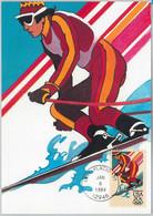 54289 - USA -  POSTAL HISTORY: MAXIMUM CARD - 1984  OLYMPICS Slalom Skiing - Invierno 1984: Sarajevo