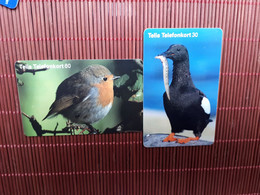 2 Phonecards Birds Used Rare - Altri