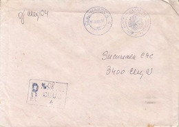 POST OFFICE INKSTAMPON REGISTERED COVER, 1988, ROMANIA - Lettere