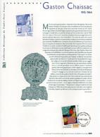 - Document PREMIER JOUR PARIS 23.9.2000 - Peintre GASTON CHAISSAC (1910-1964) - Visage Rouge - - Moderni