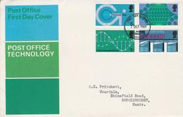 GB LETTRE FDC 1969 REALISATIONS TECHNIQUES POSTALES - 1952-1971 Dezimalausgaben (Vorläufer)