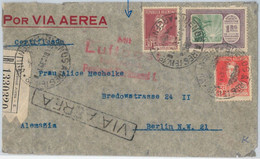 65389 - ARGENTINA - Postal History -  REGISTERED AIRMAIL COVER To  GERMANY 1932 - Covers & Documents